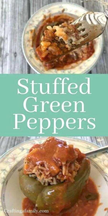 Grandma Grace Buonpane Stuffed Green Peppers