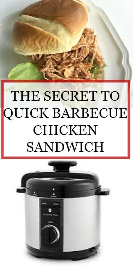 Easy Barbecue Pressure Cooker Chicken