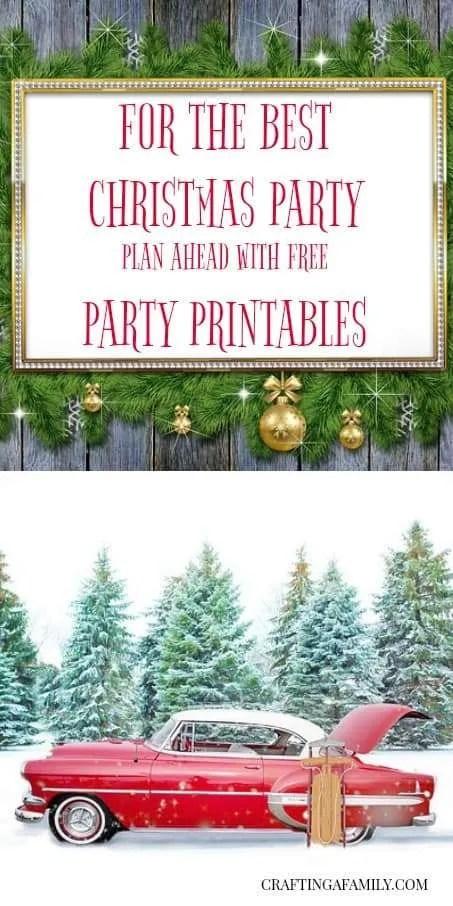 PRINTABLE CHRISTMAS PLANNER: Organize Your Christmas Entertaining