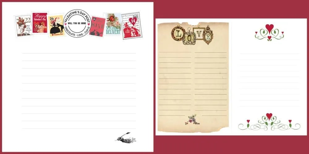 Free Love Letter Printable in the Printable Library