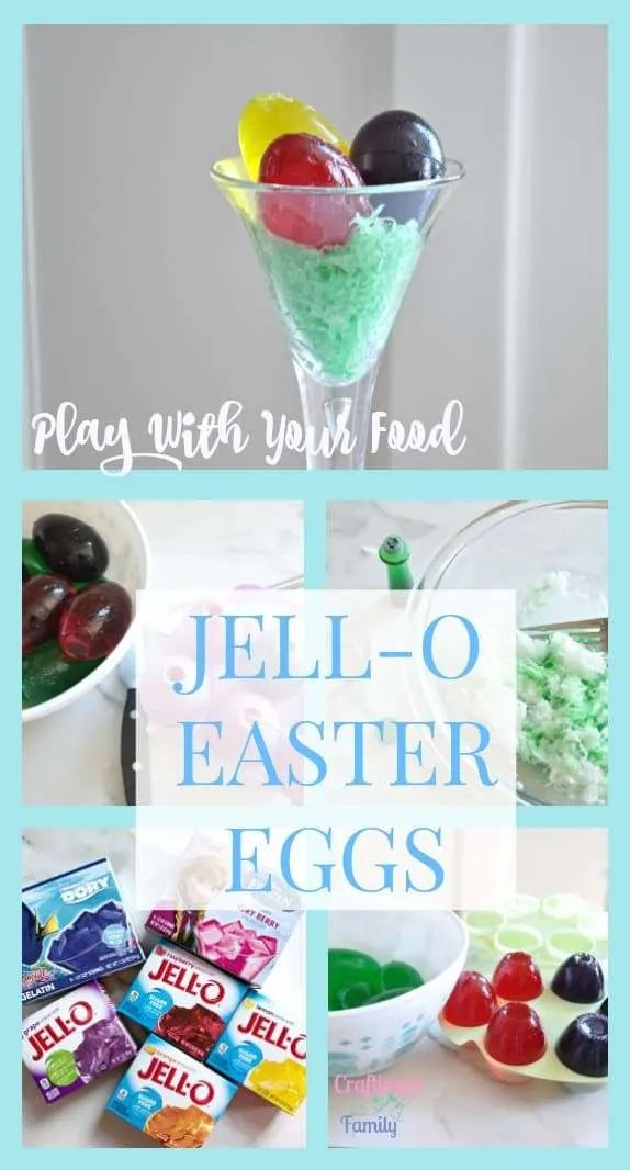 Jell o easter eggs fun for kids at easter dinner Something different to make for dinner
