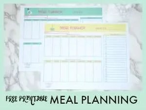 Now that we have sunshine and warm weather, planning your meals ahead will free up your time to spend with your family.  Springtime 🌷 is the perfect time to print this beautiful meal planning printable and plan out dinner for 2 weeks.  Pre-planning will help you spend more time with your family, less time at the stove and save money 💲.