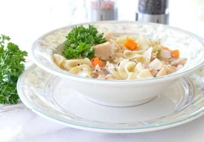 electric pressure cooker instant pot quick chicken noodle