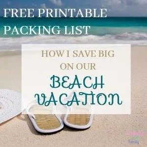 HOW I SAVE BIG ON OUR BEACH VACATION