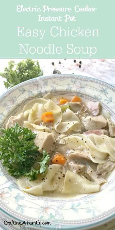 Electric pressure cooker instant pot quick chicken noodle soup electric pressure cooker quick chicken noodle soup recipe is such a comfort food it is forumfinder Images