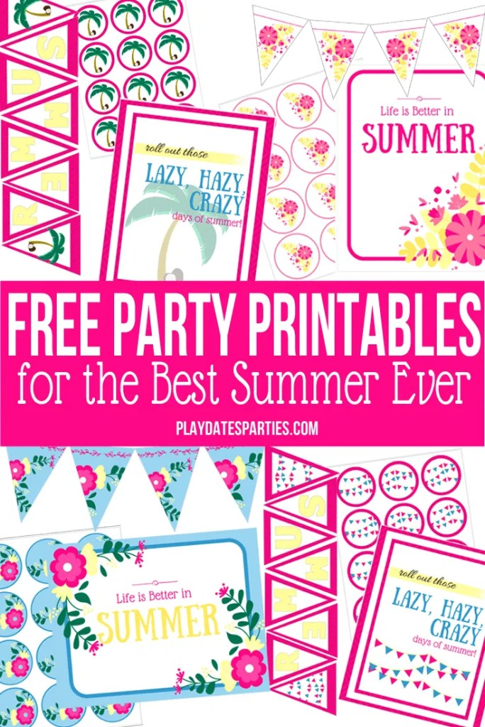 The Spectacular Summer Blog Hop: Free Party Printable for the Best Summer Ever