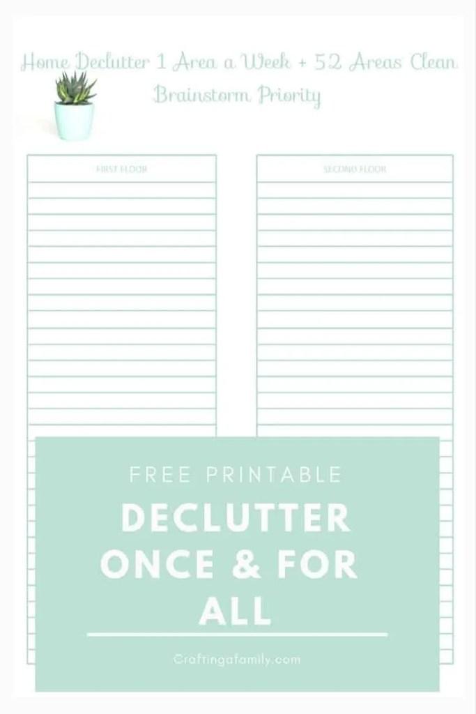 Declutter One Small Area A Week: Summer Start