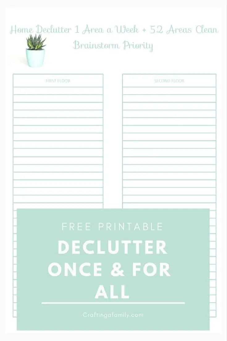 Declutter One Small Area a Week: Summer Start, Rid you home of clutter once & for all with a simple one step a week plan.