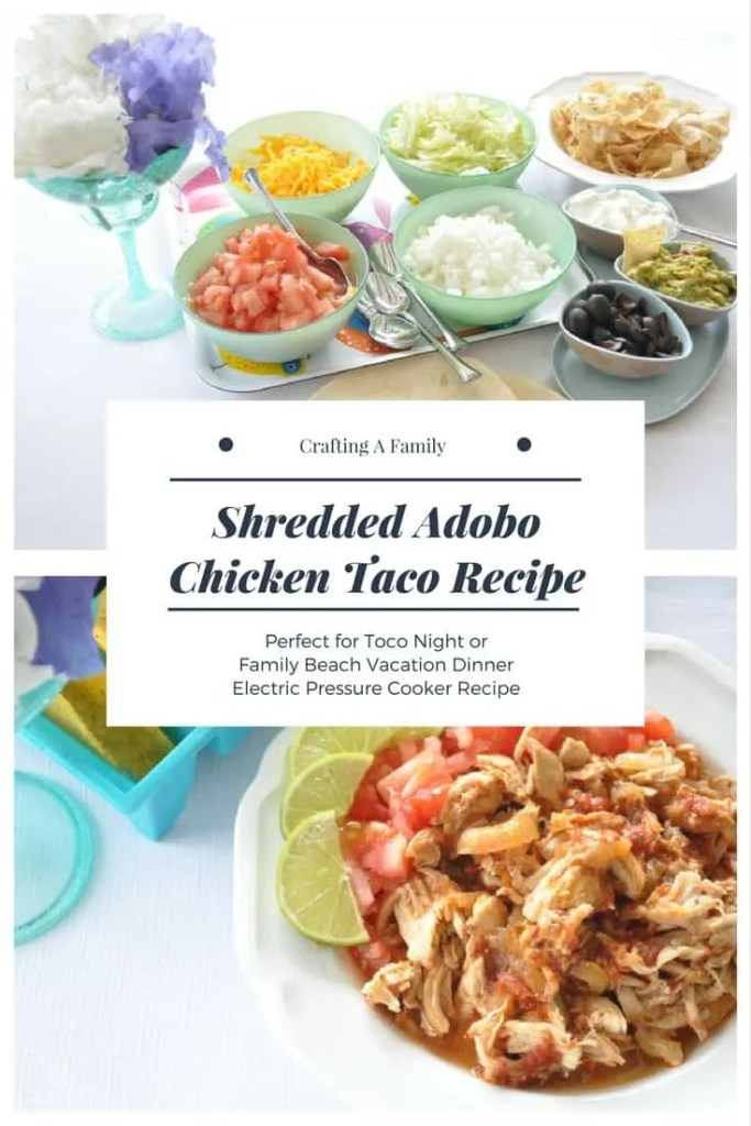 Electric Pressure Cooker Shredded Adobo Chicken Taco Recipe