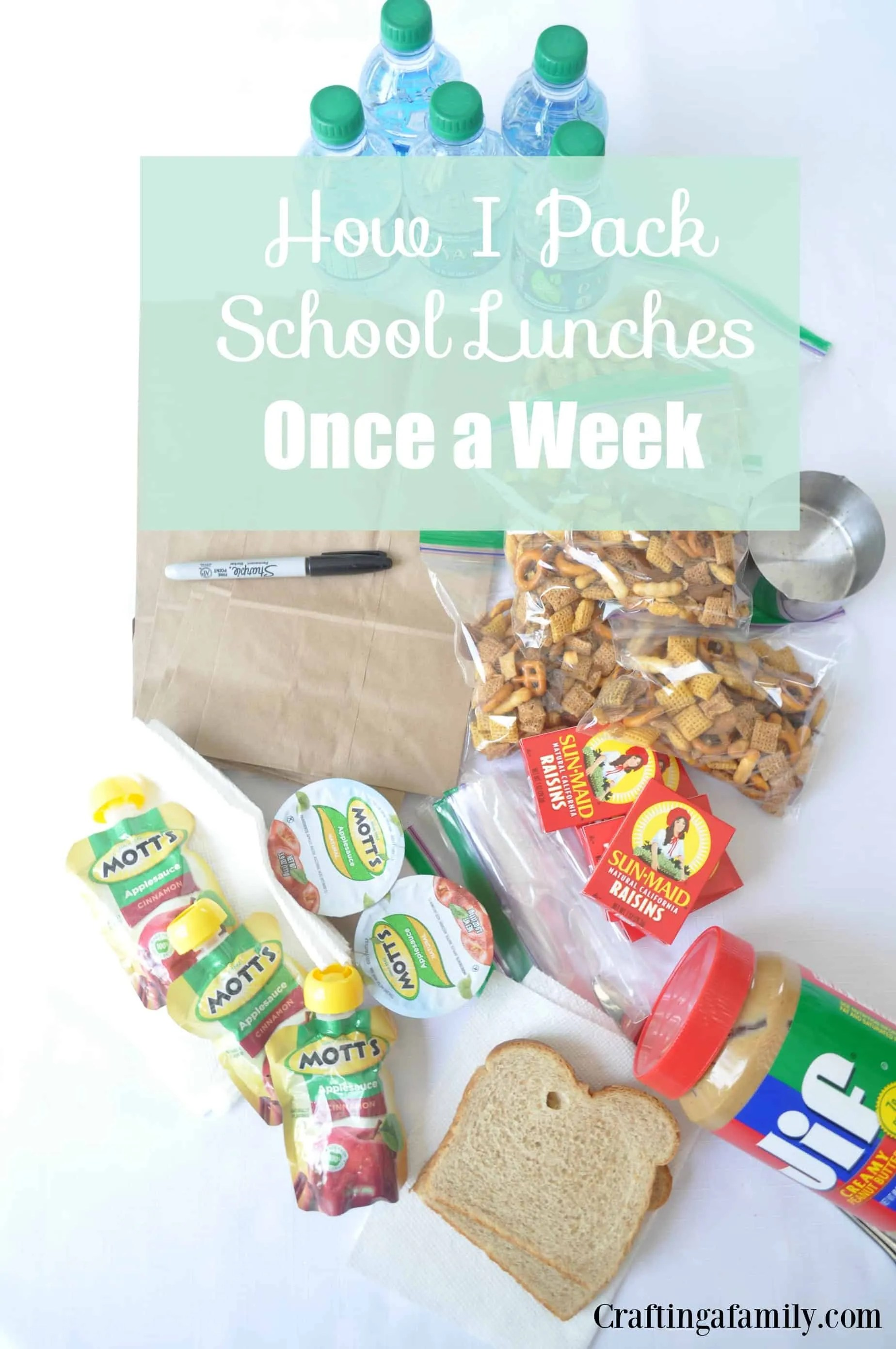 How I Pack School Lunches Once A Week With Free Printable