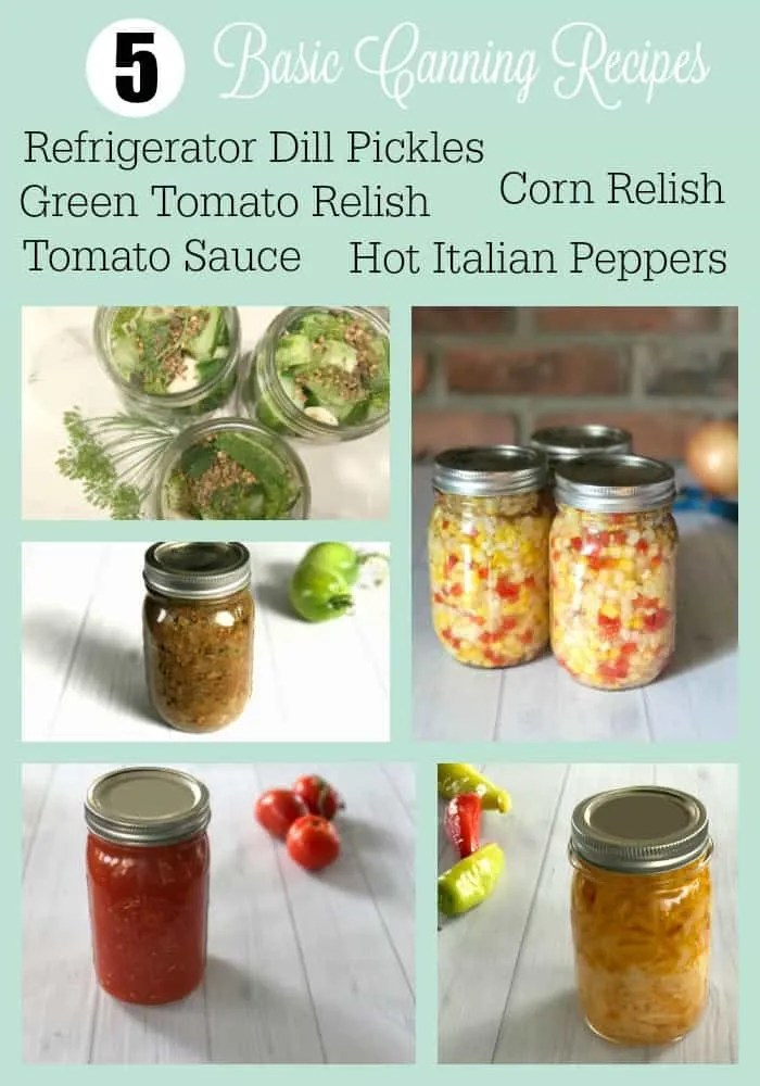 5 Basic Garden Canning Recipes