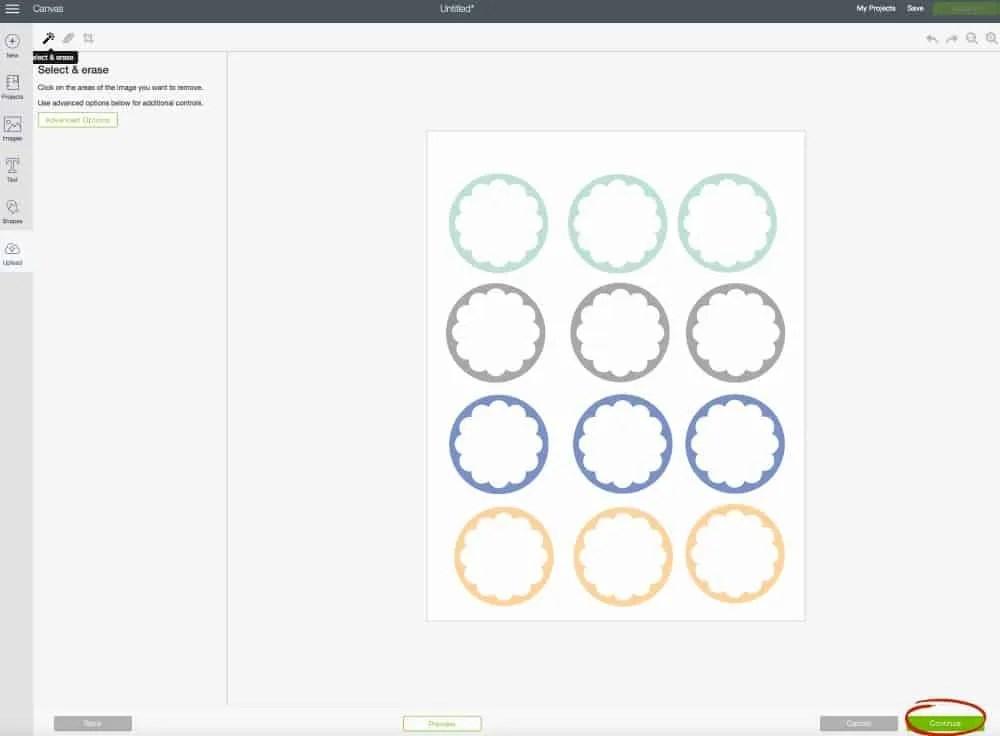 Print & Cut Label Tutorial Cricut Design Space