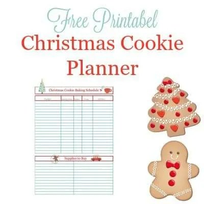 Christmas Cookie Baking Schedule Printable Crafting A Family