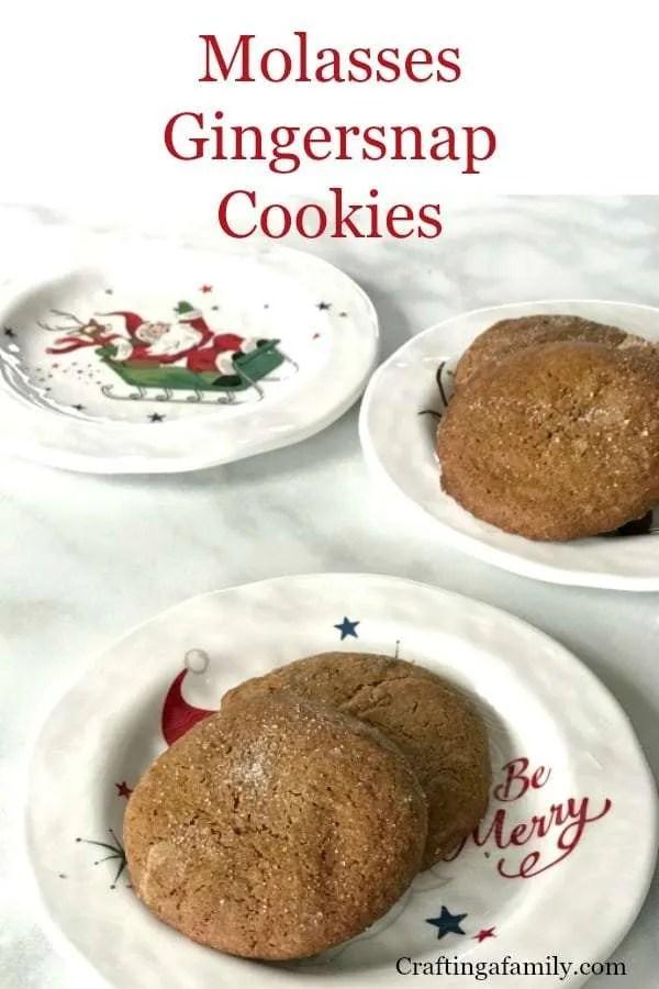 Molasses Gingersnap Cookies