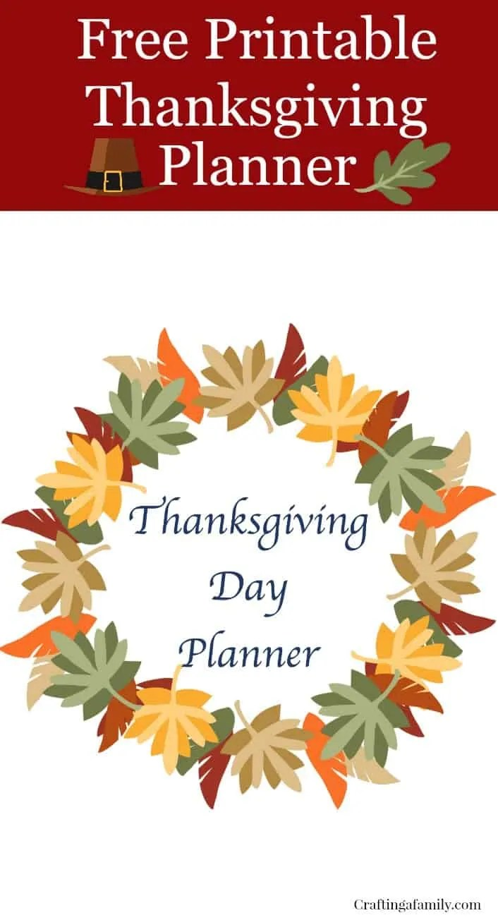 image relating to Thanksgiving Planner Printable identified as Thanksgiving Working day Planner Free of charge Printable ~ Creating a Family members
