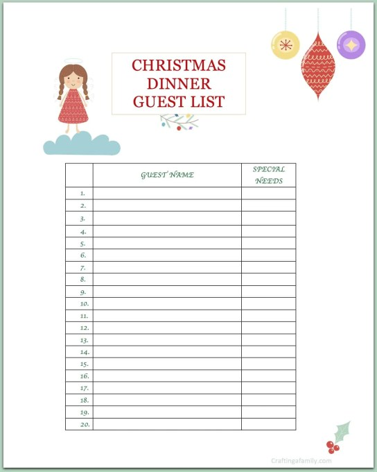 Planning Christmas Party: Christmas Party Planning Printable