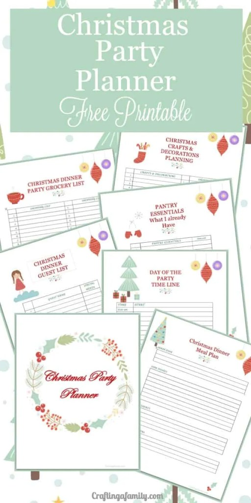 Christmas Party Planning Printable