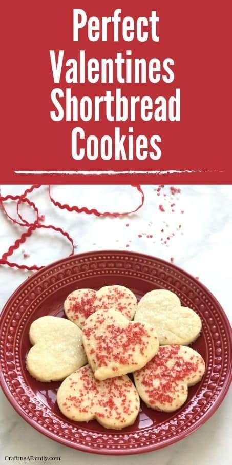 Perfect Valentines Heart Shortbread Cookie Recipe