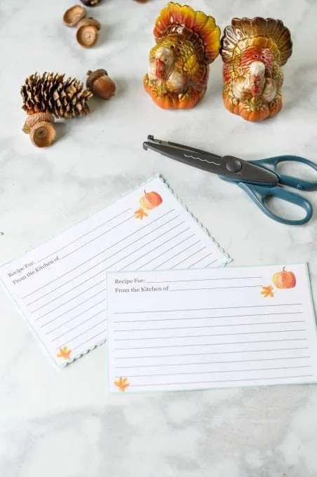 Printable Thanksgiving Recipe Cards ~ Crafting a Family