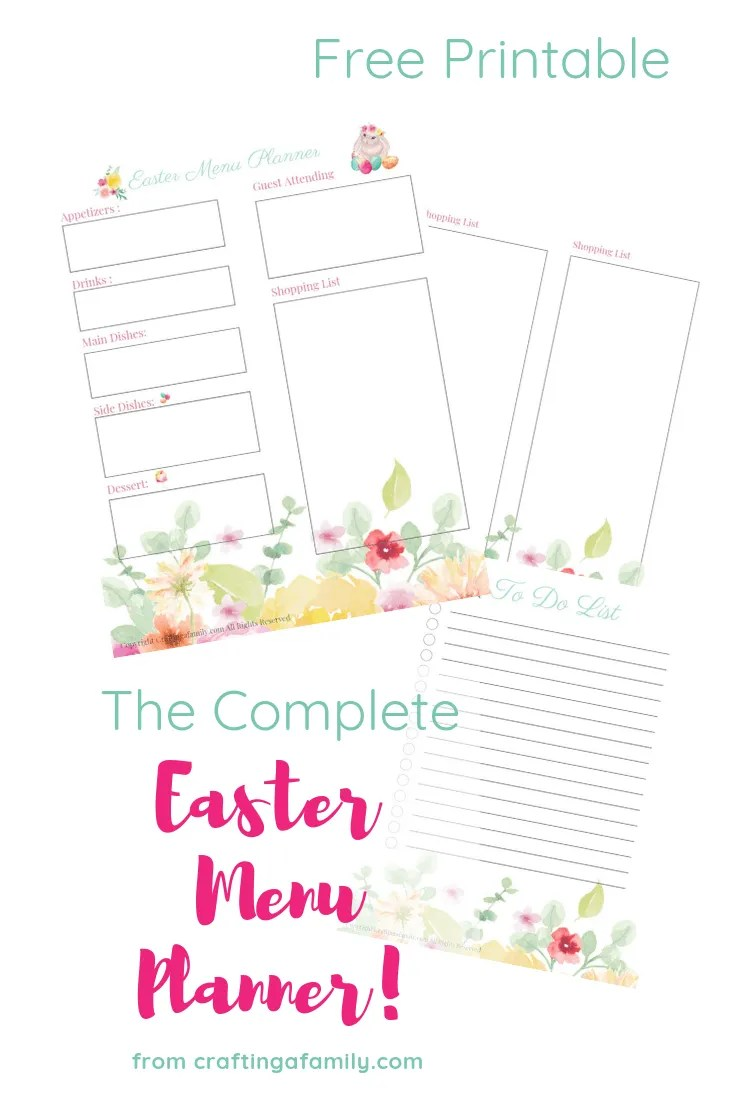 It is a photo of Printable Menu Planner for cute