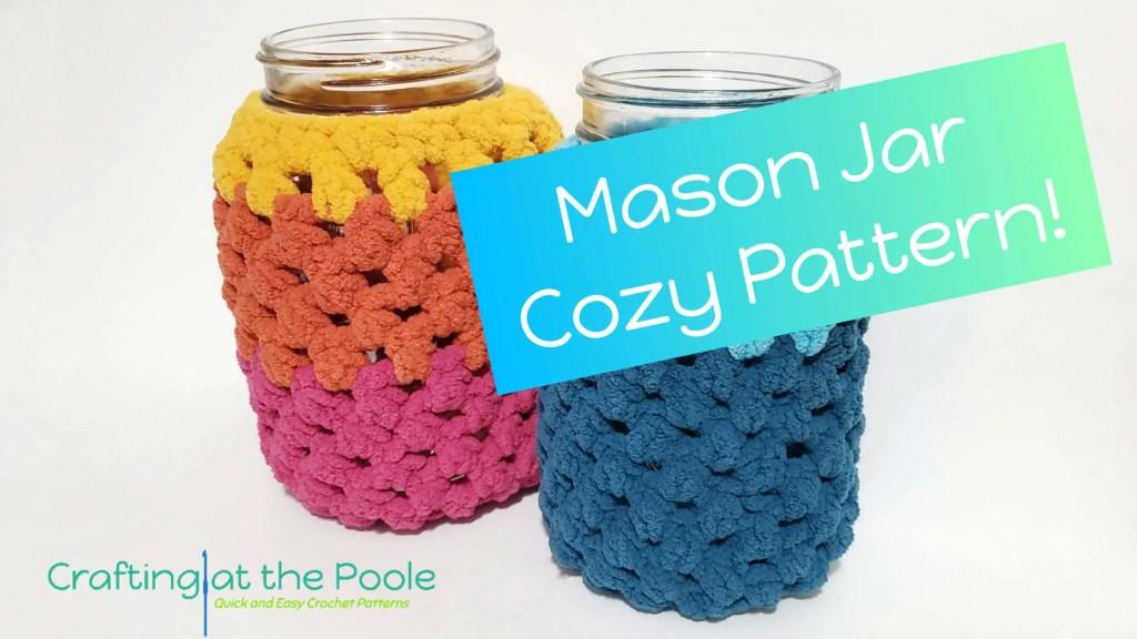 Magic Mason Jar Cozy Free Crochet Pattern