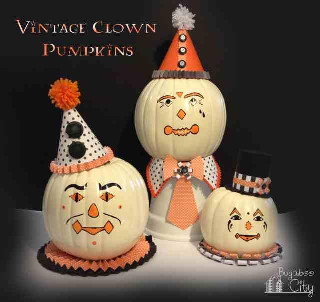 Vintage Clown Pumpkins!