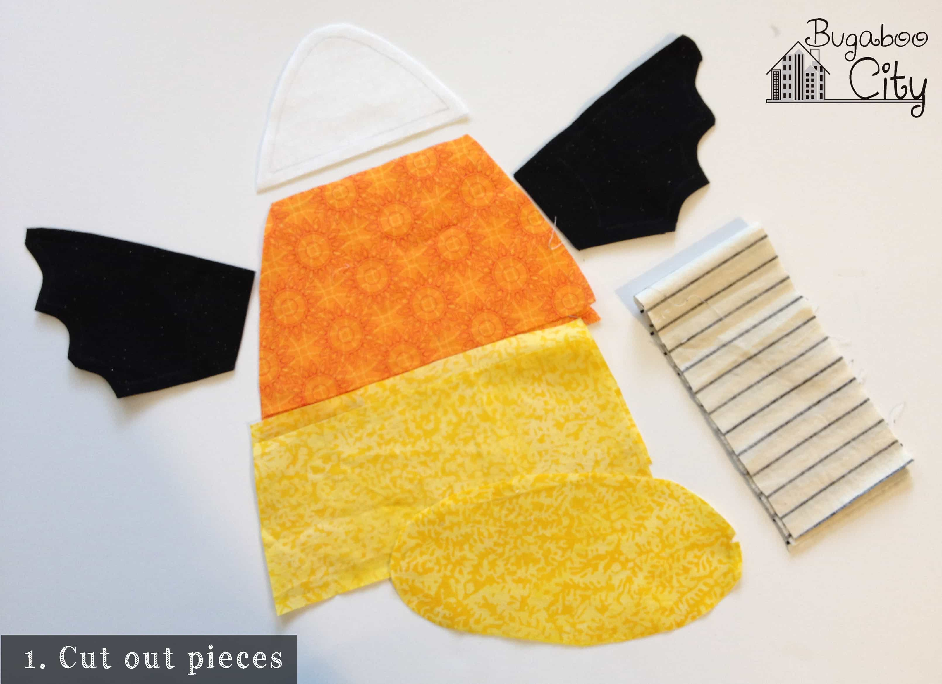 Step 1. Candy Corn Baby Toy Tutorial with free pattern