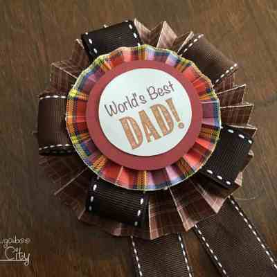 Father's Day Medallion Pin