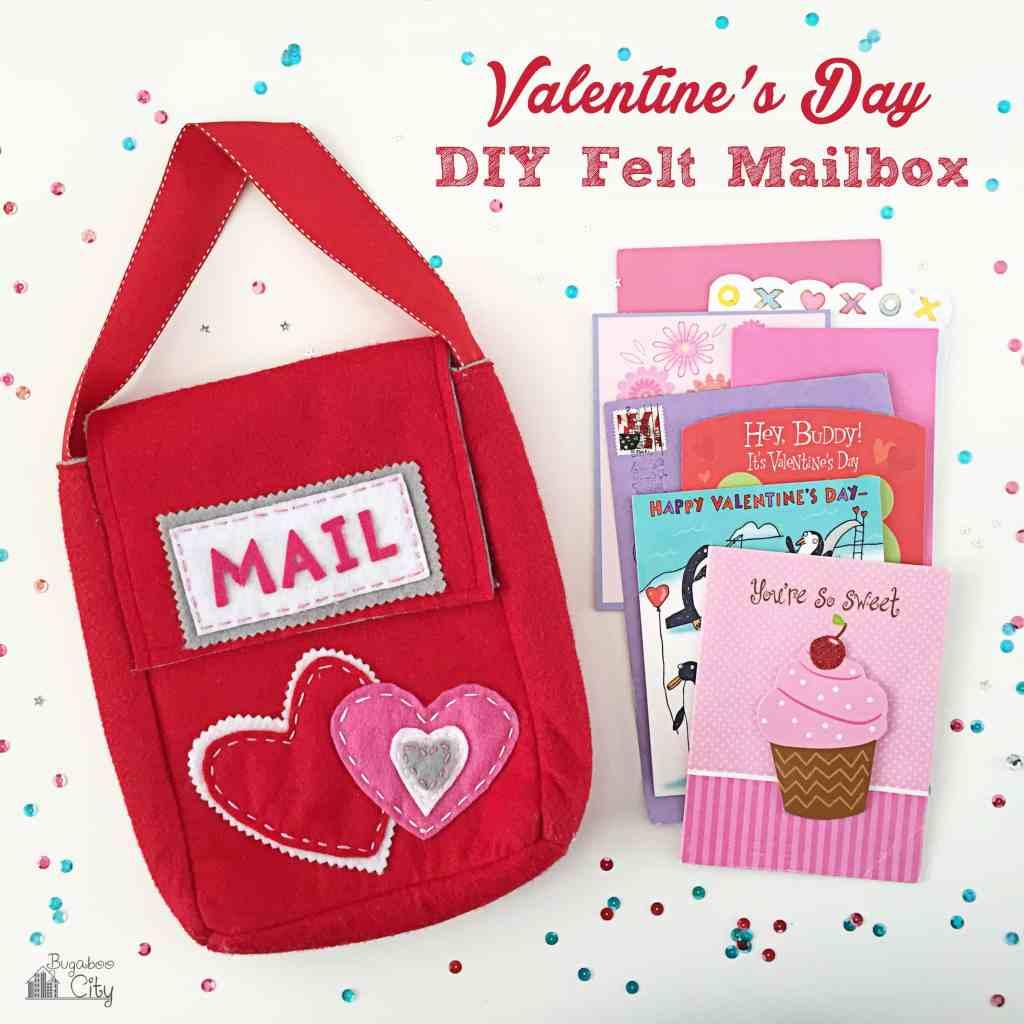 Valetine's Day Felt Mailbox