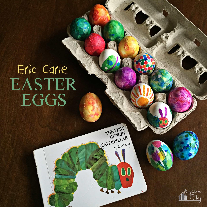 Eric Carle - inspired Easter Eggs
