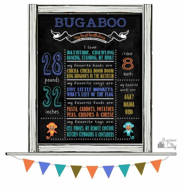 Birthday Sign BugabooCity
