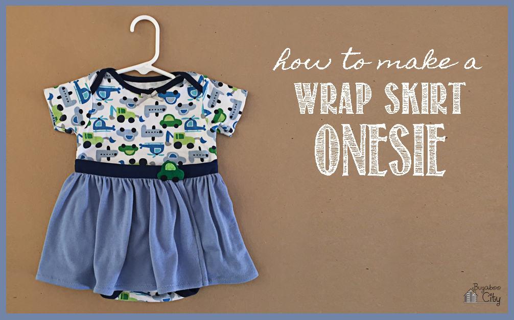 Wrap Skirt Onesie Tutorial