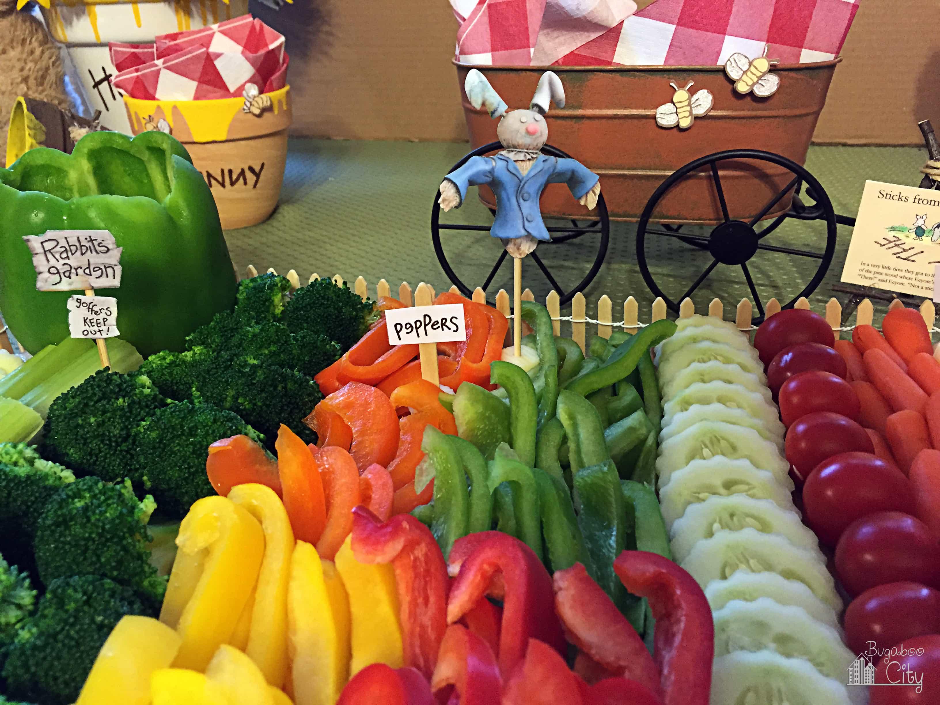 Garden-Themed Vegetable Platter