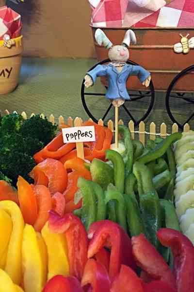 DIY Garden-Themed Vegetable Platter