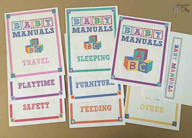 Baby Manuals Binder Printables 3