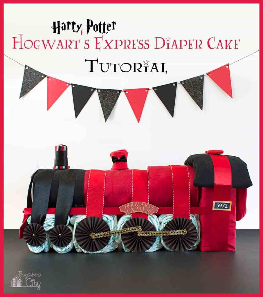 Harry Potter Diaper Cake Hogwart's Express Tutorial BugabooCity