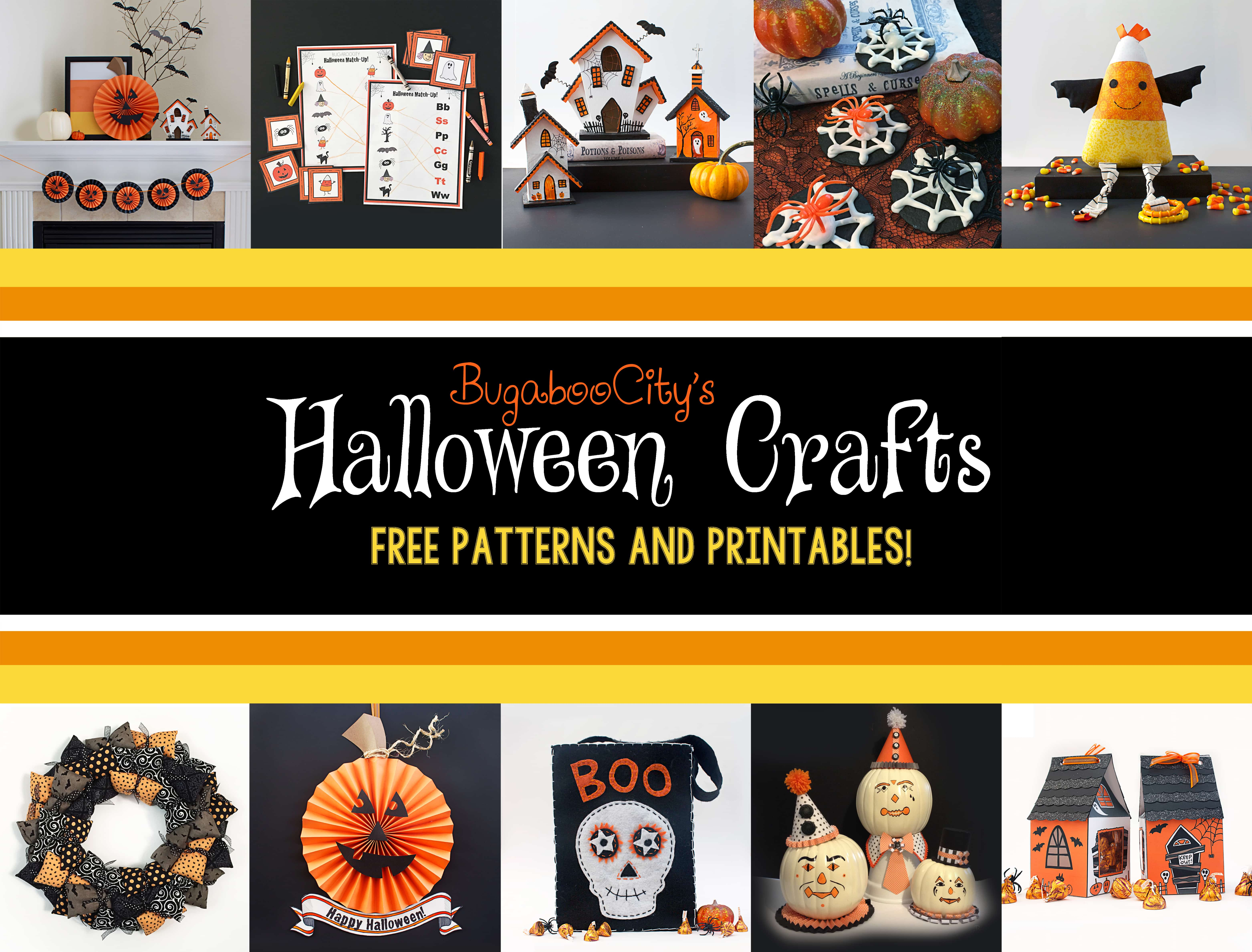 graphic relating to Free Printable Halloween Crafts called 10 Spooky Do-it-yourself Halloween Crafts - Writing Cheerfully