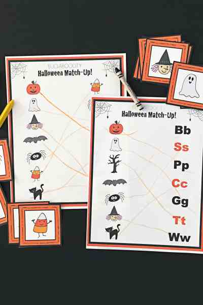 Kid's Halloween Activity Pages