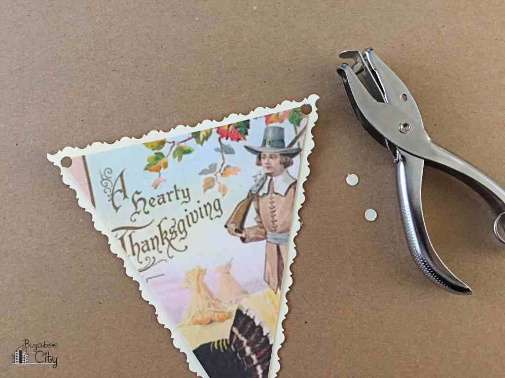 Thanksgiving Banner from Vintage Holiday Cards