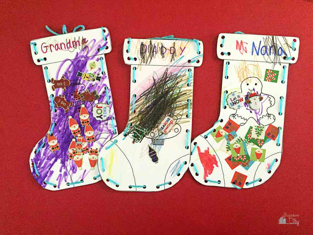 Kid's Christmas Stocking Craft 8