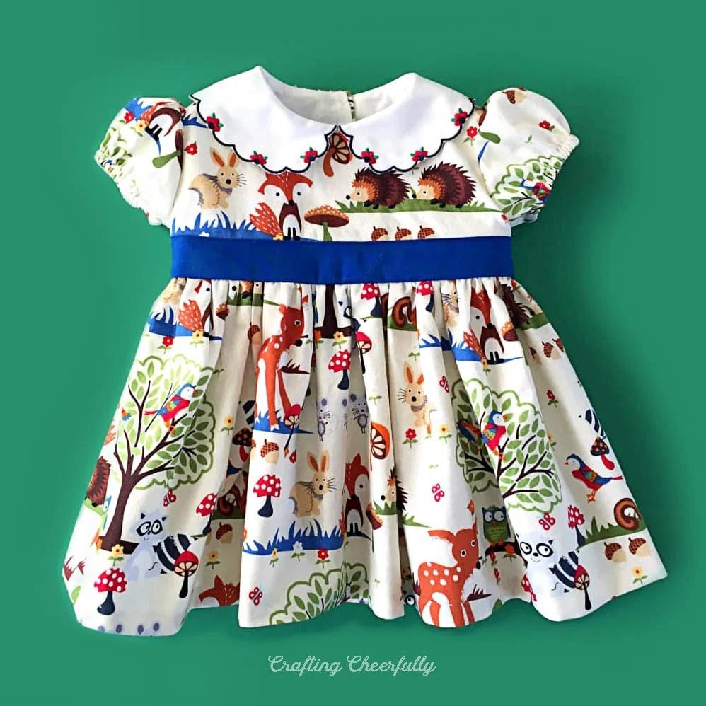 Handmade Woodland Baby Dress