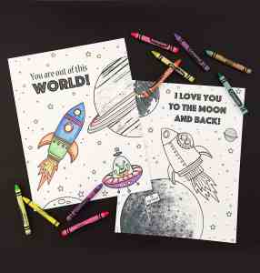 Free Printable Outer Space Coloring Pages