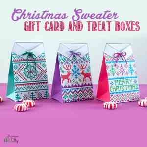 Christmas Sweater Treat Boxes