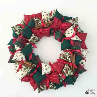 Holiday Pillow Wreath