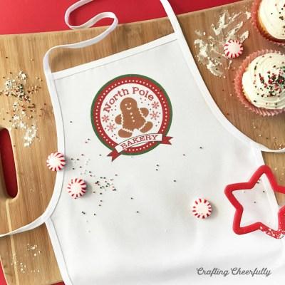 No-Sew Children's Christmas Apron – Free Iron-on Printable