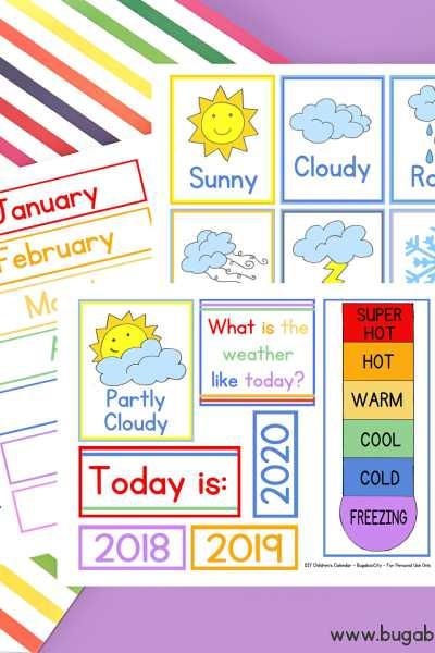 DIY Children's Calendar Updates!