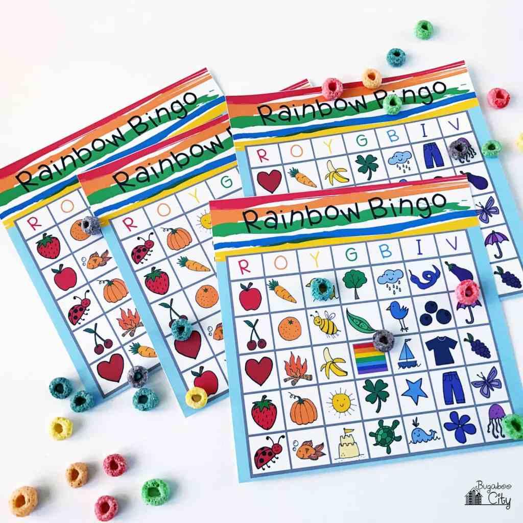 Free Rainbow Bingo Printable Set