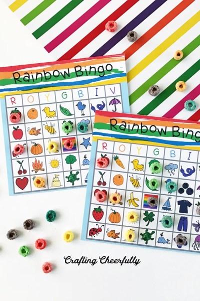 Rainbow BINGO – Free Printable Boards!
