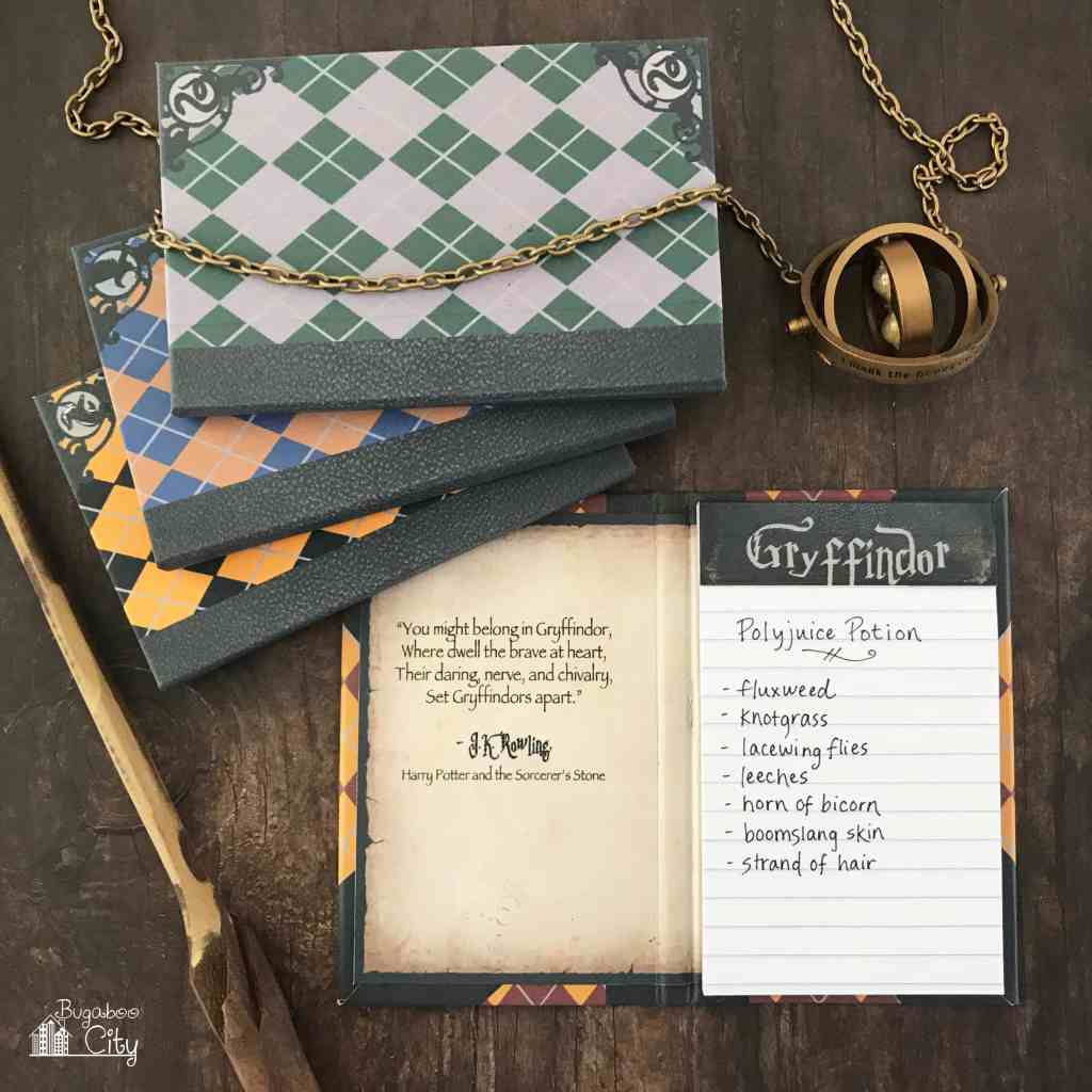 DIY Harry Potter Notepads - Free Printables!