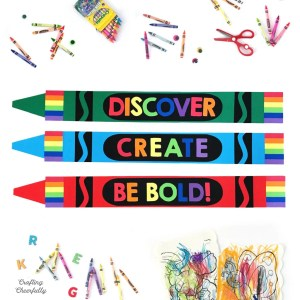 DIY Giant Paper Crayons